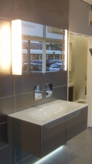 Keuco vanity unit display At Aquarooms