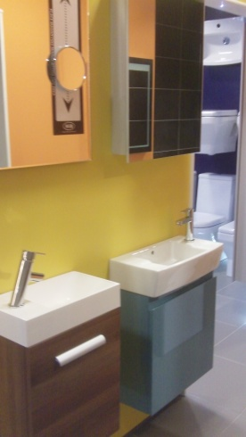 small cloakroom units  on Display at Aquarooms